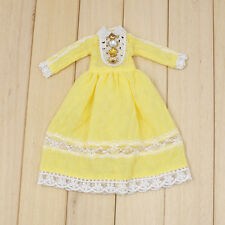 "Takara 12"" Blythe Doll Sweet Outfits-The Long Summer Yellow Dress"
