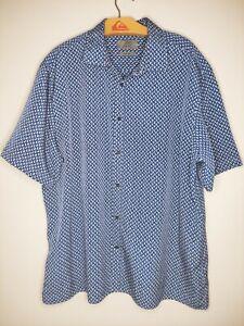 Mens marks and spencer short sleeve shirt XXL blue