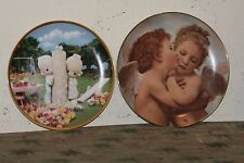 2 Collector's plates:Bradford Exchange-First Kiss,Precious Moments-Thee I Love