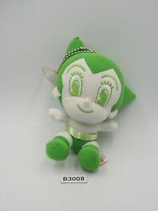 "Astro Boy B3008 Mighty Atom Green Mascot Plush 5"" Toy Doll Japan Tezuka Osamu"