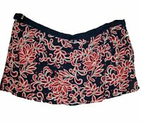 NEW Swim Skirt Plus Size 26W 3X Bottom FLORAL Navy Coral Skirted Separate NWT