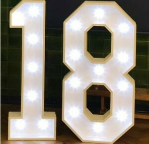 For Hire Giant Light Up Numbers Great for Birthdays, Weddings, Parties Essex
