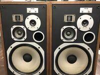 VINTAGE PIONEER HPM-100 4-WAY FLOOR STEREO SPEAKERS 200w ver