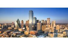 Dallas Texas Downtown Skyline Panorama Photo Art Print Poster 24x36 inch
