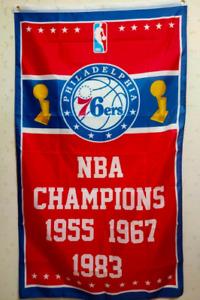 Philadelphia 76ers World Champions Flag 3X5 FT NBA Banner Polyester FAST SHIPPIN