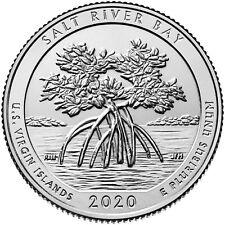 USA : 2 quarters Parcs Nationaux SALT RIVER BAY - 2020 P & D - NEUVES UNC