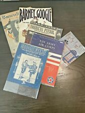 Vintage Sheet Music Lot of Early 1900's and On Great Graphics! Art Deco War