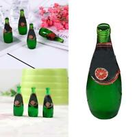 Mini Green Model Fruit Bottles for Dollhouse Miniature 1:12 Scale collectible