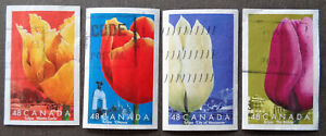 CANADA#1946a-d used 2002 flowers / tulips set. We combine shipping