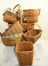 Mix lot of Longaberger Baskets total of 7 A11