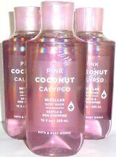 Bath & Body Works Set of 3x Pink Coconut Calypso Micellar Body Wash ~ Free Ship