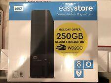 Western Digital easystore 8TB External Hard Drive for WIN MAC WDBCKA0080HBK-NEBB