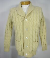 Fundamentals Quality Forever Long Sleeve Cardigan SWEATER 100% Wool Size M 009