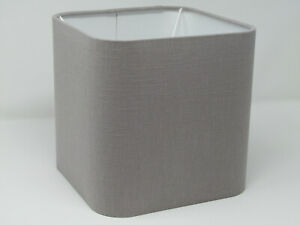Lampshade Grey Textured 100%  Linen Rounded Square Light Shade