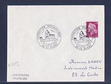 ec68/ Enveloppe    expo  philatélique  Le Blanc     1968