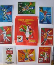 8 Sticker set Coca Cola Celebration PANINI  Fifa World Cup South Africa 2010