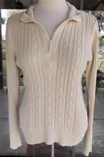 DKNY Pull Over Long Sleeve Sweater Top Size L Petite