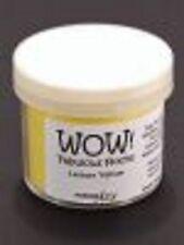WOW Flock Powder LEMON YELLOW 1.5oz WT12R Raised Tactile Velvety Finish Non Toxi