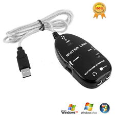 Guitar to USB Interface Link Cable PC MAC Recording USB