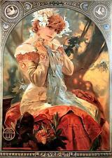 Alphonse Alfons Mucha Art Nouveau A3 Size 40x28 cm Lefevre-Utile Poster Print
