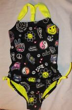 NEW girls JUSTICE Peace, love, smile swimsuit Size 7