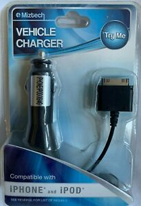 iPhone 3 & 4  &  iPod  *  cell phone & mp3  VEHICLE CAR CHARGER  *  NEW