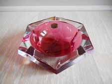 cendrier ashtray cristal Crystal verre glass deco Val Saint Lambert vsl rouge