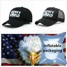 Wayne's World Hat Cap Adjustable Movie Hat Adult Unisex Black Baseball Cap New