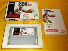 NBA LIVE 97 Super Nintendo Snes Versione PAL Europea ○○○ COMPLETO