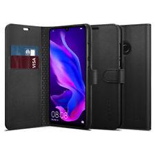 Huawei P30 Pro, P30 Lite Spigen® [Wallet S] Black Leather Protective Cover Case