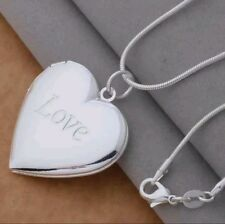 LOVE LOCKET HEART VALENTINE PICTURE  FREE SHIPPING  NECKLACE