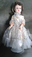 Antique American Character Brunette Hard Plastic Doll, Jointed elbows & Knees