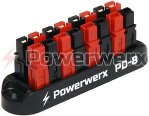 Powerwerx PD-8 8 Position Power Distribution Block for 15/30/45A Powerpole Conn.