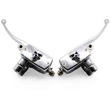 "Universal Motorcycle 7/8""Skull Handlebar Brake Clutch Master Cylinder Levers"