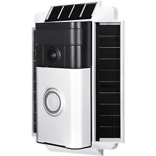 Wasserstein Ring Solar Charger Mount for Ring Video Doorbell 1, 0.5 Watt (White)