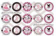 15-1in. Precut Bottle Cap Images Ballet Princess Ballet Girls