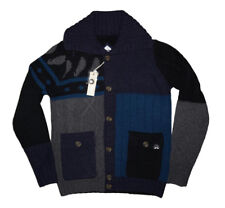 DIESEL K-MIX CARDIGAN NAVY/BLACK SIZE S 100% AUTHENTIC