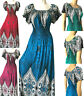 PLUS SIZE Women Long Maxi Summer Beach Hawaiian Boho Evening Party Sundress Gown