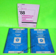 1988 Dodge Ram Van Caravan Plymouth Voyager Service Shop Repair Manual Book Set