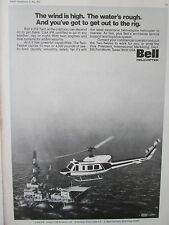 5/1973 PUB BELL HELICOPTER TEXTRON BELL 212 OFFSHORE OIL ORIGINAL AD