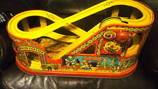 """J CHIEN VINTAGE TIN LITHO WINDUP ROLLERCOASTER  SHOWS AGE 1940""""S NO CARS"""