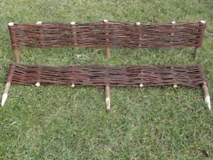 Natural Willow Border Edging 100cmx 10cm Garden Lawn Hurdle Wicker Fence NEW BIO