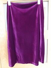 Laura Ashley Stretchy Velvet Skirt Size Large Waist 30 inches Wine colour