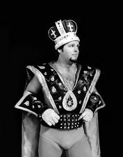 Pro Wrestler JERRY 'THE KING' LAWLER Glossy 11x14 Photo WWF Print WWE Poster