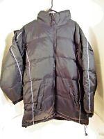 ADVANCE SPORT mens winter coats parka down filled hooded sz X large BLACK