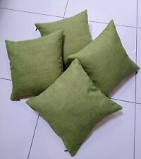 """Lime green Linen look Cushion cover 16"""" x 16"""""""