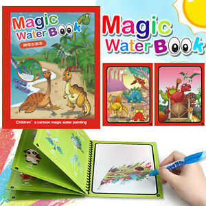 Multi-style Magic Water Drawing Book Magic Water Reusable Doodle Board For Kids