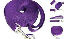 New listing Dog Training Long Leash Nylon Lead Rope Obedience Recall Large 20ft Purple