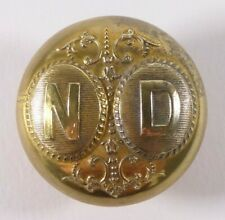 Bouton de livrée -  Monogramme N. D. - 32 mm - XIXe - French Livery Button