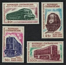 Central African Rep. Bangui-Douala Railway Project Locomotives 4v 1963 ** MNH